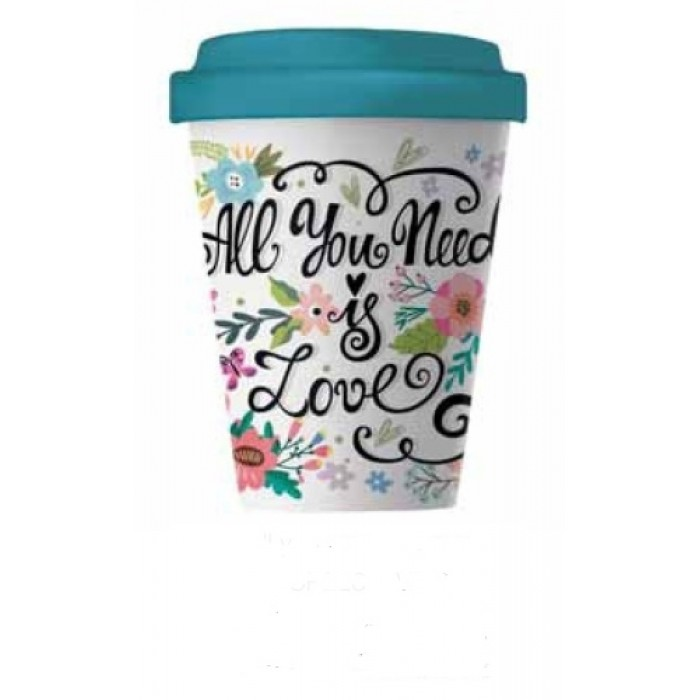 Bamboo Cup - All you need is Love Bamboo Cups 6546546