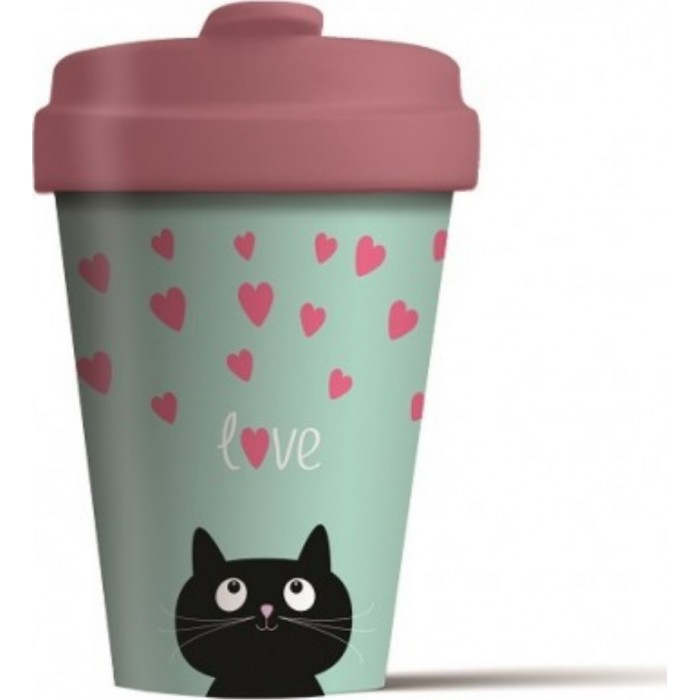 Bamboo Cup - Kitty Love Bamboo Cups 6546546789