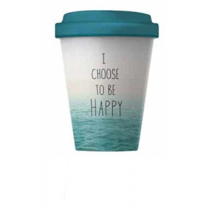Bamboo Cup - Choose Happy Bamboo Cups 9789605932