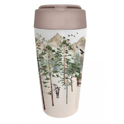 Κούπα Bamboo Bioloco Plant Deluxe Chic Mic Forest  420 ml